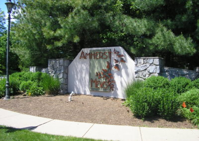 Amherst Mews cut metal letters Basking Ridge