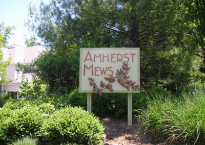 Amherst post panel cut metal Basking Ridge