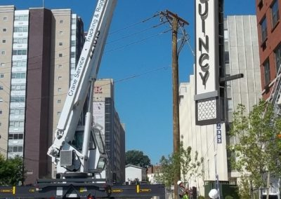 The Quincy sign in New Brunswick, NJ