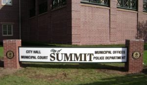 image of City of Summit monument sign