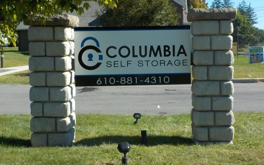 Columbia Self Storage sign