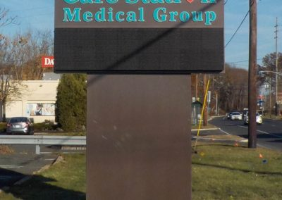 Care Station Medical Group LED message board sign